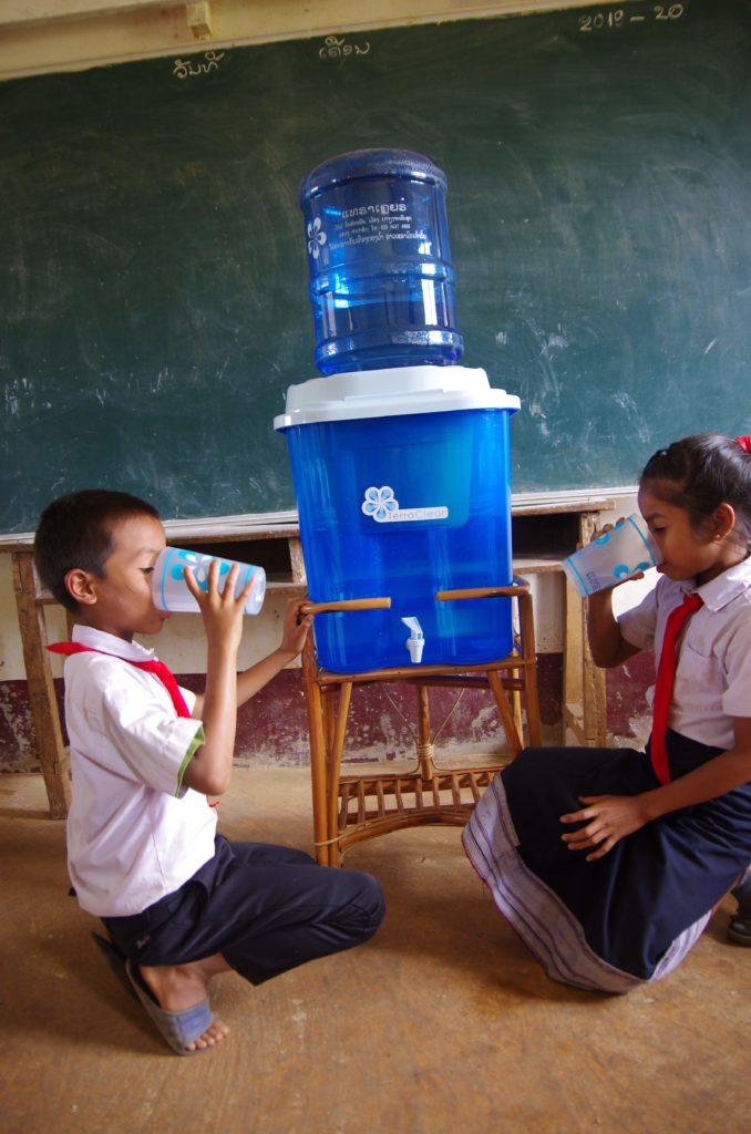 Wasserfilter in Laos - TerraClear X Klimashopper 4